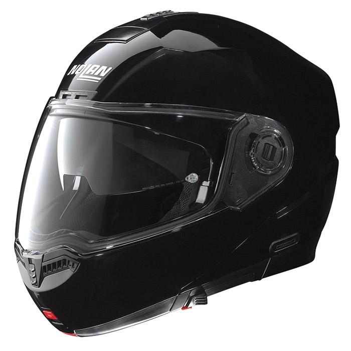 N104 ソリッド グロッシーブラック Mサイズ フリップアップヘルメット NOLAN(ノーラン)