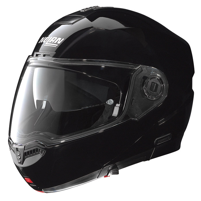 N104 ソリッド グロッシーブラック XLサイズ フリップアップヘルメット NOLAN(ノーラン)