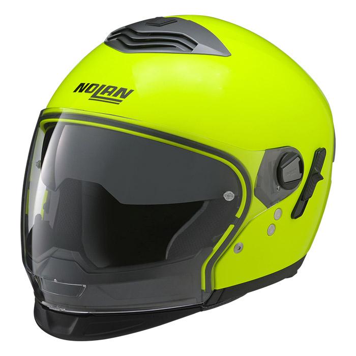 N43T ハイビィジビリティー 蛍光イエロー Lサイズ クロスオーバーヘルメット NOLAN(ノーラン)