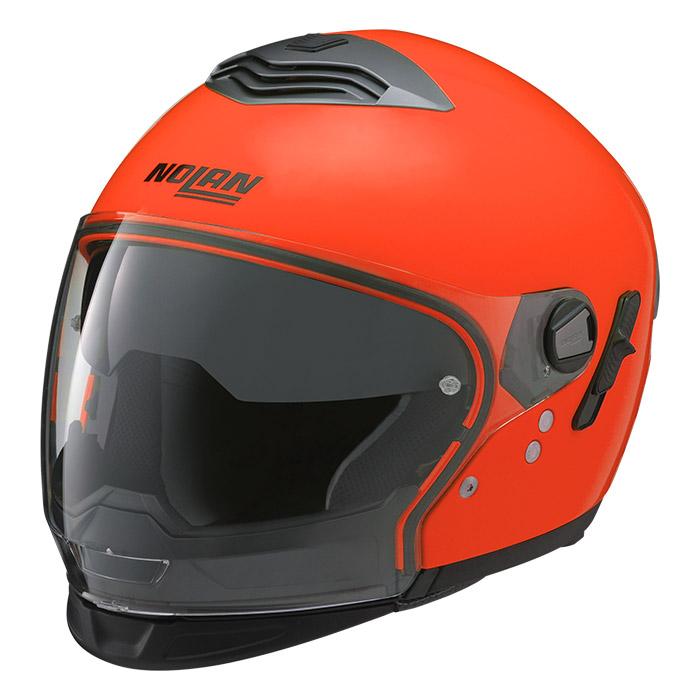 N43T ハイビィジビリティー 蛍光オレンジ XLサイズ クロスオーバーヘルメット NOLAN(ノーラン)