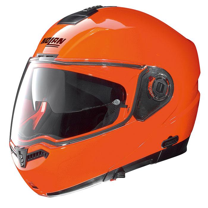 N104 ハイビィジビリティー 蛍光オレンジ Mサイズ フリップアップヘルメット NOLAN(ノーラン)