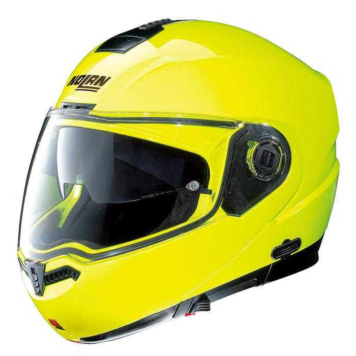 N104 ハイビィジビリティー 蛍光イエロー XLサイズ フリップアップヘルメット NOLAN(ノーラン)