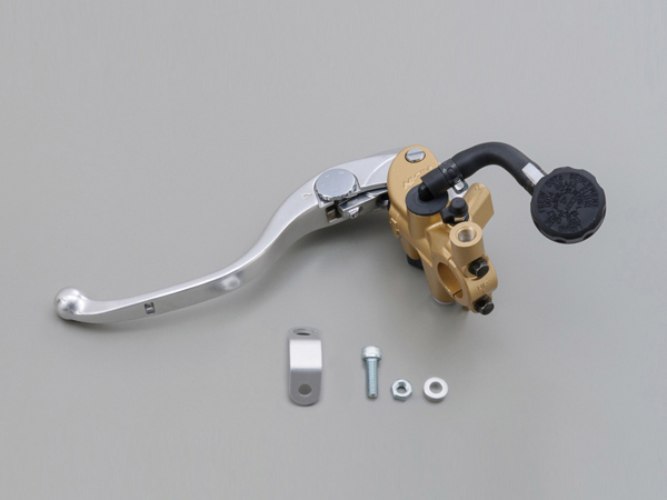 NISSINラジアルクラッチマスターシリンダー縦型φ19(3/4インチ)ゴールド レバーカラー シルバー DAYTONA(デイトナ)