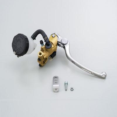 NISSINラジアルブレーキマスターシリンダー縦型Φ17(11/16インチ) ゴールド レバーカラー シルバー DAYTONA(デイトナ)