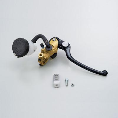 NISSINラジアルブレーキマスターシリンダー縦型Φ17(11/16インチ) ゴールド レバーカラー ブラック DAYTONA(デイトナ)