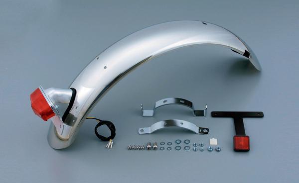 SR400・SR500(78~08年・10年) ステンレスショート リアフェンダー ルーカステール付 DAYTONA(デイトナ)