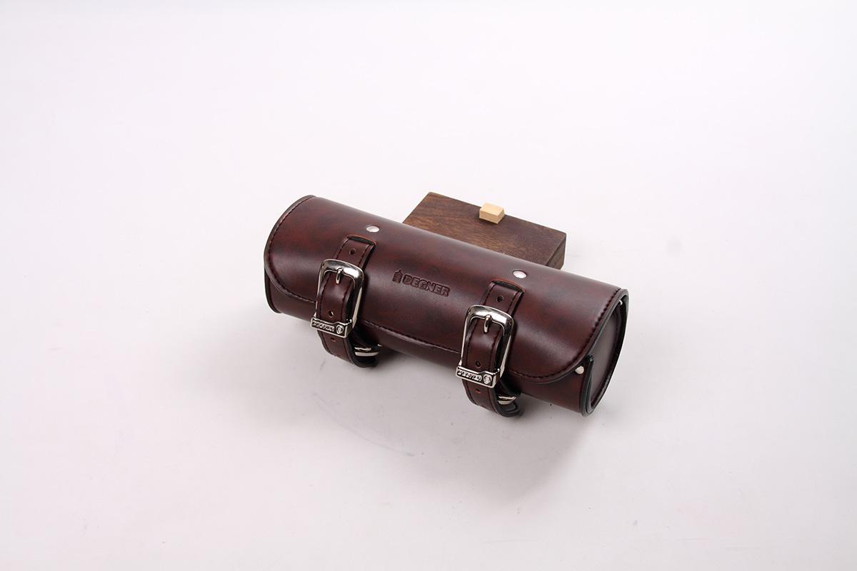 DTB-1 シンセティックレザーツールバッグ(ブラウン)1リットル DEGNER(デグナー)