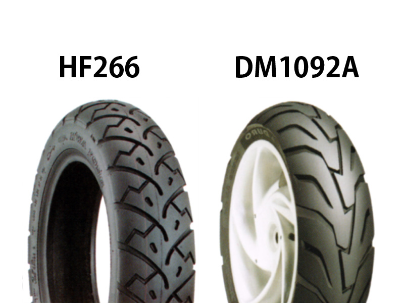 ベンリィ(BENLY) タイヤ前後セット HF266 110/90-10・DM1092A 110/80-10 DURO(デューロ)