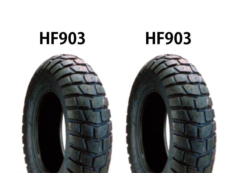 ストリートマジック110(STREET MAGIC)丸型ライト タイヤ前後セット HF903 120/80-12×2本 DURO(デューロ)