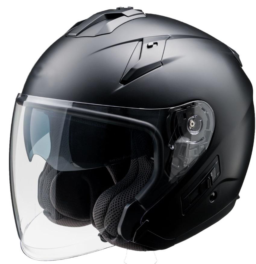 FH-003 TURISMOヘルメット マットブラック Mサイズ インナーバイザー付ジェットヘルメット FiORE:(フィオーレ)