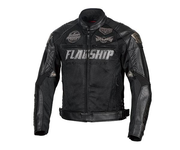 FJ-S206G バーテックスメッシュジャケット ブラック LWサイズ FLAGSHIP(フラッグシップ)