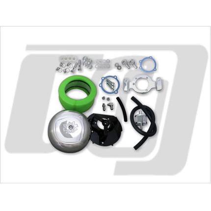 7インチラウンドエアクリーナーセット ブリーザーキット付91UP XL GUTS CHROME(ガッツクローム)