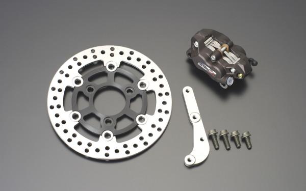 NSR50・NSR80 アドバンテージ 4POTキャリパーフロントディスクブレーキキット ブラック GRONDEMENT(グロンドマン)