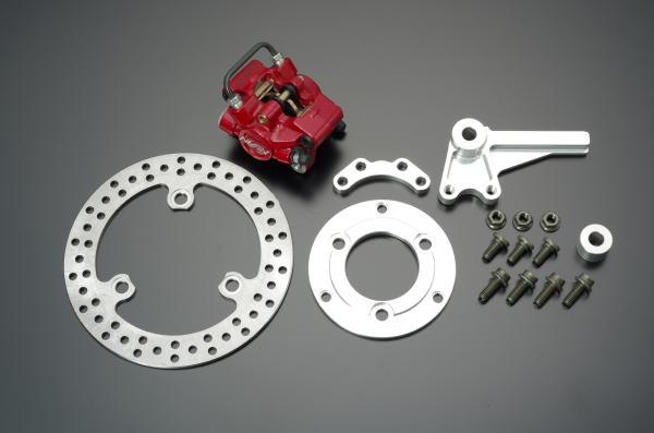 XR100モタード アドバンテージ NISSIN対向2POT 赤 キャリパーリアディスクブレーキキット レッド GRONDEMENT(グロンドマン)