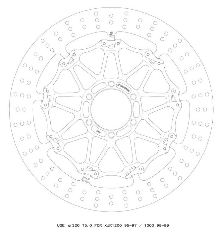 XJR1300(98~99年) クロスロックディスクローター フロント 右 GALE SPEED(ゲイルスピード)
