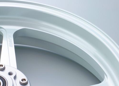 Z1000(14年) アルミニウム鍛造ホイール TYPE-R 350-17 フロント用 パールホワイト Gコート仕様 GALE SPEED(ゲイルスピード)