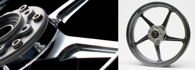 Z900RS(18年) TYPE-C アルミニウム鍛造ホイール ガンメタ 350-17 フロント用 GALE SPEED(ゲイルスピード)