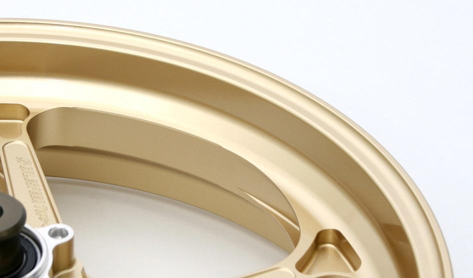 ZEPHYR1100 (RS不可) 92~06年 アルミ鍛造ホイール (TYPE-N Gコート) フロント 350-18 ゴールド GALE SPEED(ゲイルスピード)