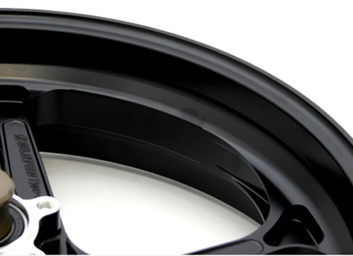 GSX-R1000(ABS)15~16年 マグネシウム鍛造ホイール (TYPE-GP1SM) R 600-17 半ツヤブラック GALE SPEED(ゲイルスピード)