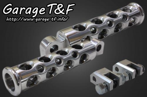 ビラーゴ250(VIRAGO) コンバットフットペグ(ポリッシュ) フロントセット ガレージT&F