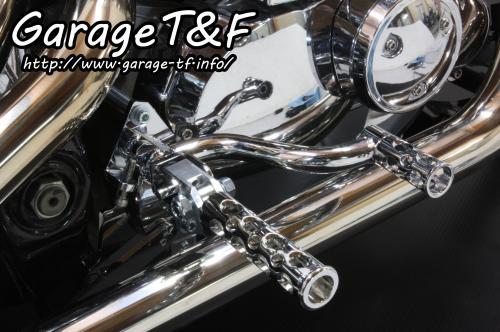 ドラッグスター400/クラシック ミッドコントロールKIT(メッキ) コンバット(メッキ) ガレージT&F