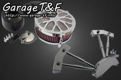 スティード400/VLX/VCL/VSE/VLS ラグジュアリーフラワー(メッキ)&プッシュロッドカバーSET ガレージT&F