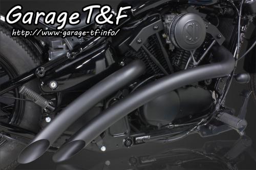 バルカン400/クラシック ベントマフラー(ブラック)タイプ1 ガレージT&F