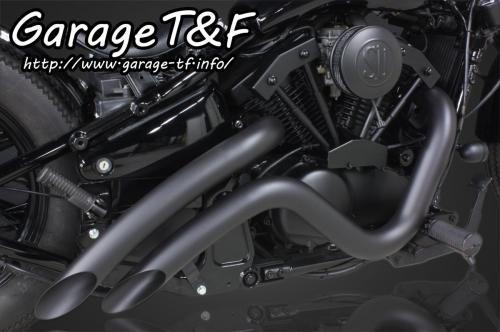 バルカン400/クラシック ベントマフラー(ブラック)タイプ2 ガレージT&F