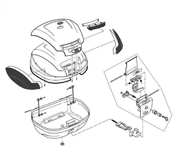 Z647R ボタン用スプリング(下)(E370補修品) GIVI(ジビ)