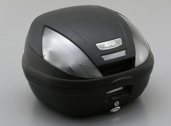 モノロックケース E370NT 未塗装ブラック TECHスモークレンズ GIVI(ジビ)
