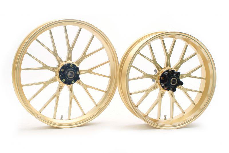 FXD DYNA(ABS)/FXDC アルミ鍛造ホイール(S18 Gコート) フロント用 250-19 ゴールド GLIDE(グライド)