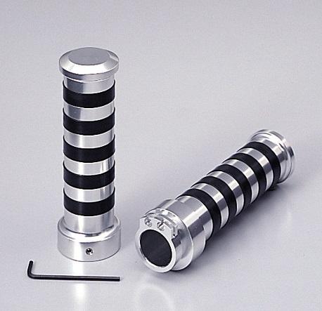 【送料無料】 BOLT(ボルト)/R/ABS アルミグリップ Φ1インチ(25.4mm)ハンドル用 TYPE2 クロームメッキ HURRICANE(ハリケーン)