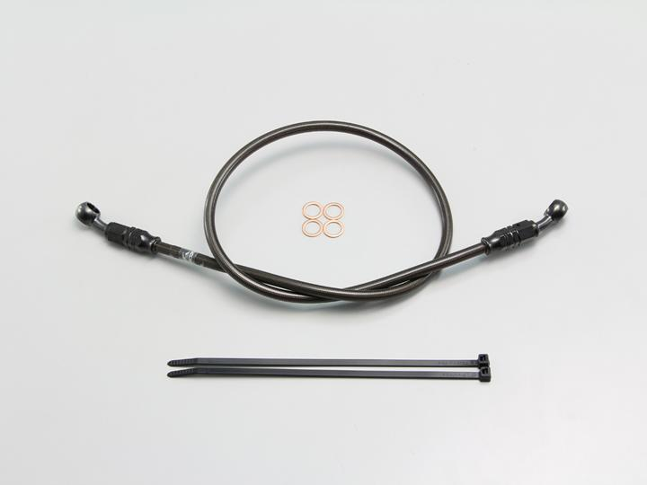 フルステンレス製 ブレーキホース ブラック Pタイプ 長さ155cm HURRICANE(ハリケーン)