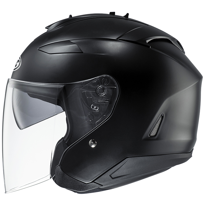 HJH120 IS-33II ソリッド オープンフェイスヘルメット セミフラットブラック L(59-60)サイズ HJC