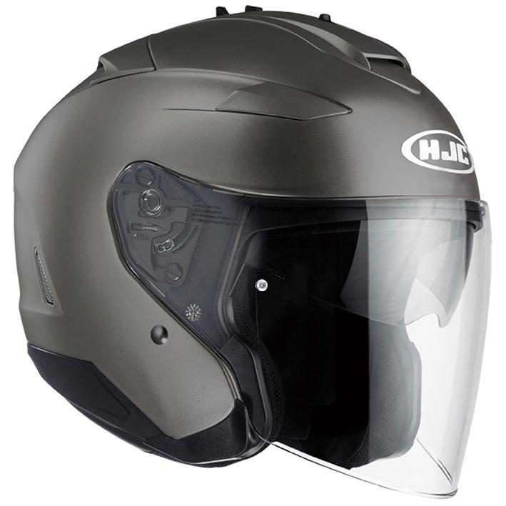 HJH120 IS-33II ソリッド オープンフェイスヘルメット セミフラットチタニウム S(55-56)サイズ HJC