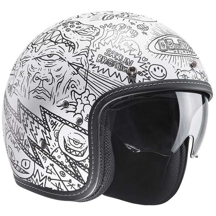 HJH128 FG-70S オープンフェイスヘルメット マチュ L(59-60)サイズ HJC