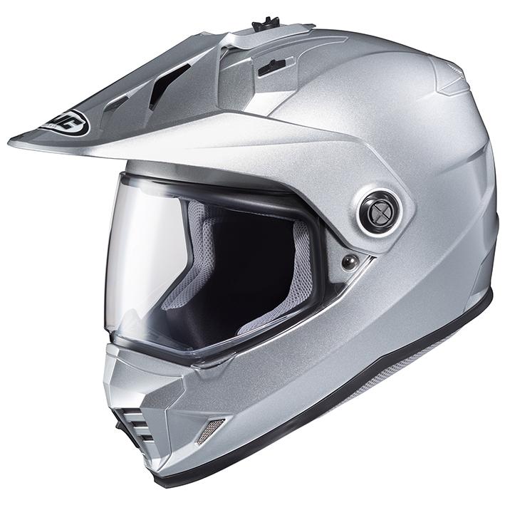 HJH133 DS-X1 ソリッド オフロードヘルメット シルバー Lサイズ HJC