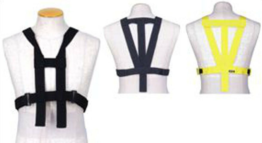 胸部パット用ハーネスB単体 (胸部+脊髄パッド取付け用) イエロー フリー(M~3XL対応)サイズ hit-air(ヒットエアー)