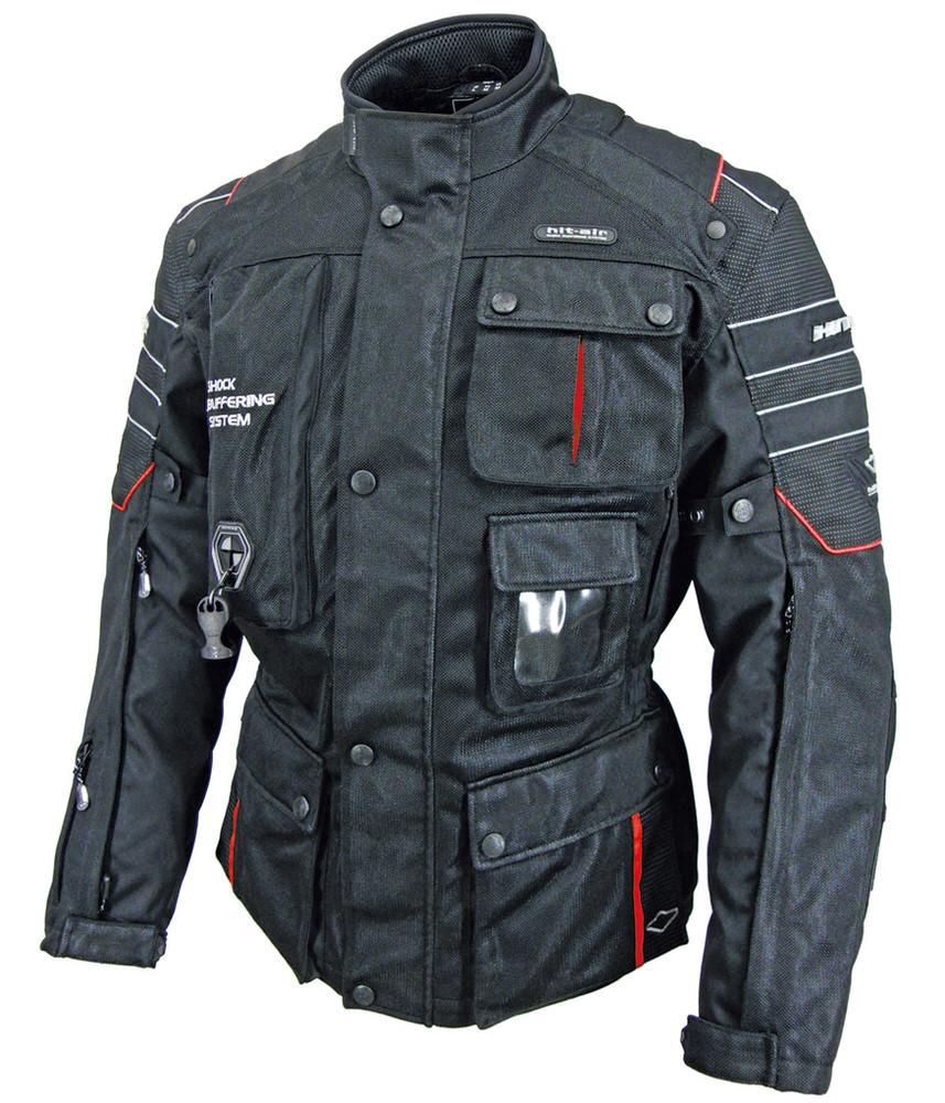 Motorrad-2Mesh エアバッグメッシュジャケット ブラックレッド 3XLサイズ hit-air(ヒットエアー)