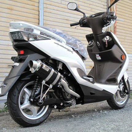 シグナスX(FIモデル)O2センサー付モデル Type666マフラー ステンレスブラック HOTLAP(ホットラップ)