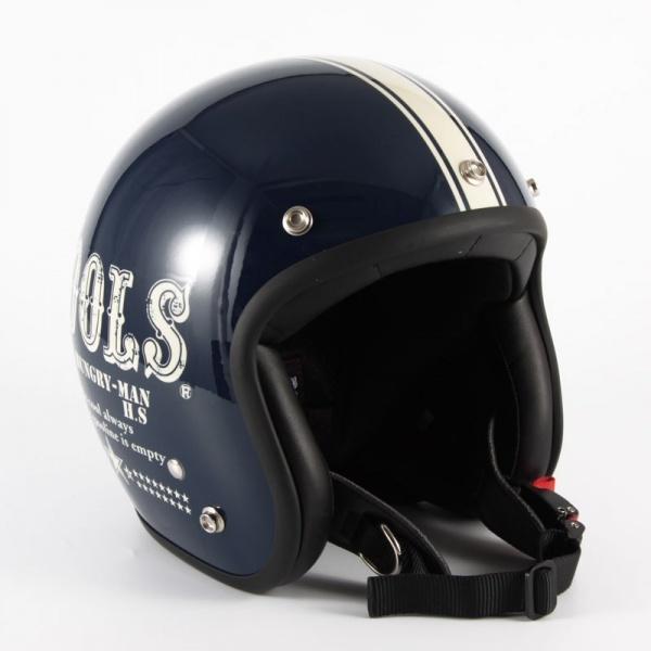 HM-02 COOLS HUNGRY MAN ネイビーベース グロス仕上げ ジェットヘルメット 72JAM(ジャムテックジャパン)
