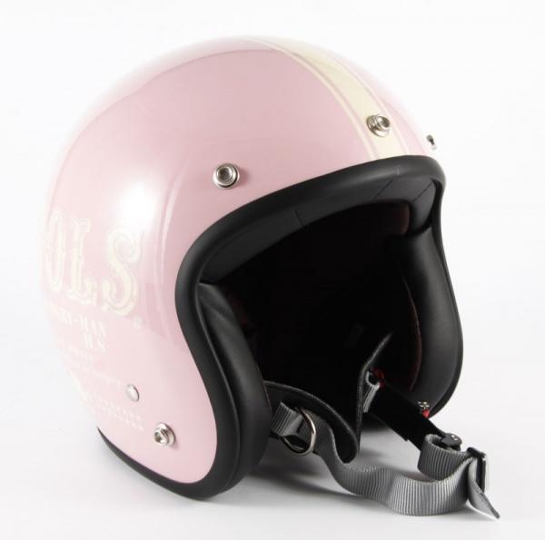 HM-04 COOLS HUNGRY MAN レディース ピンクベース グロス仕上げ ジェットヘルメット 72JAM(ジャムテックジャパン)
