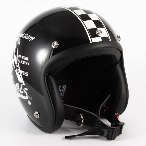 HMW-05L COOLS WIND DIALOGER XLサイズ ブラックベース グロス仕上げ ジェットヘルメット 72JAM(ジャムテックジャパン)
