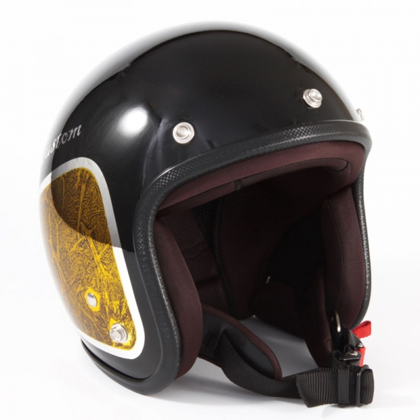 JCP-34 WEED ブラックベース/イエローラップ グロス仕上げ ジェットヘルメット 72JAM(ジャムテックジャパン)