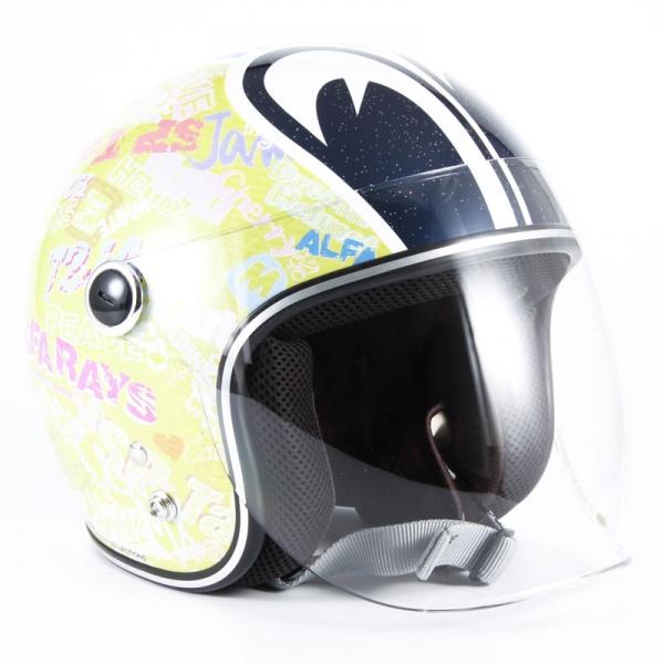 SPK-01 SP TADAO キッズ イエローベース グロス仕上げ ジェットヘルメット 72JAM(ジャムテックジャパン)