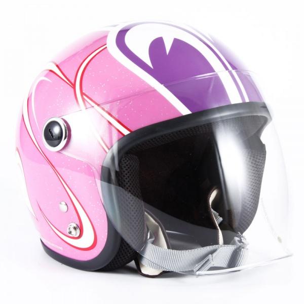 SPL-01 SP TADAO レディース ピンクベース グロス仕上げ ジェットヘルメット 72JAM(ジャムテックジャパン)