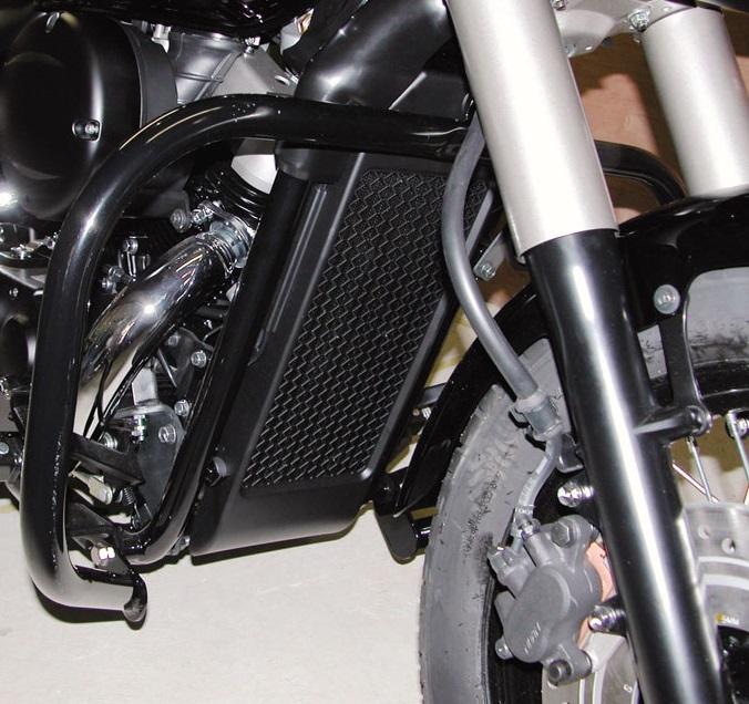 シャドウ750(SHADOW)04~08年 デコレーションバンパーフロント スチール製 ブラック KIJIMA(キジマ)