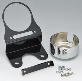 ソフテイルFXSB(ブレイクアウト) スピードメーター&インジケーター移設キット スチール製クロームパネル KIJIMA(キジマ)