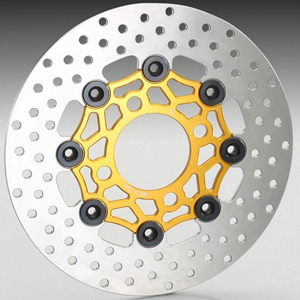 Sh mode(モード)JF51 フローティングディスクローターΦ220 ゴールド・ブラック アルミ製 KITACO(キタコ)