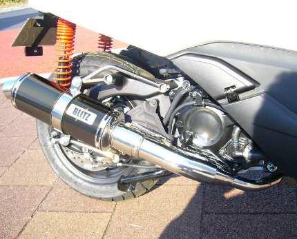 フォルツァSi MF12(FORZA) BLITZ マフラーS ブラックメタル JMCA認定 コタニモータース(KOTANI MOTORS)